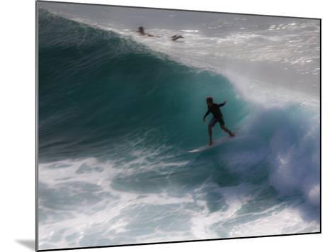 Surfing on Honolua Bay, Kapalua, Hawaii, USA-Douglas Peebles-Mounted Photographic Print
