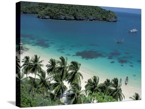 View of Beach, Ko Samui Island, Thailand-Nik Wheeler-Stretched Canvas Print