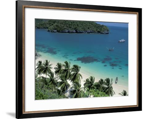 View of Beach, Ko Samui Island, Thailand-Nik Wheeler-Framed Art Print