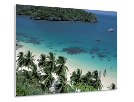 View of Beach, Ko Samui Island, Thailand-Nik Wheeler-Metal Print