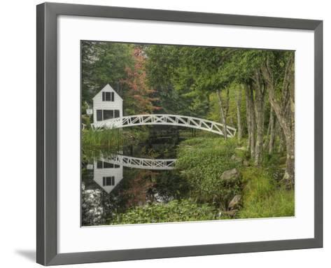 White Footbridge, Somesville, Mount Desert Island, Maine, USA-Adam Jones-Framed Art Print