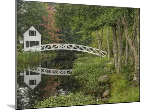White Footbridge, Somesville, Mount Desert Island, Maine, USA-Adam Jones-Mounted Photographic Print