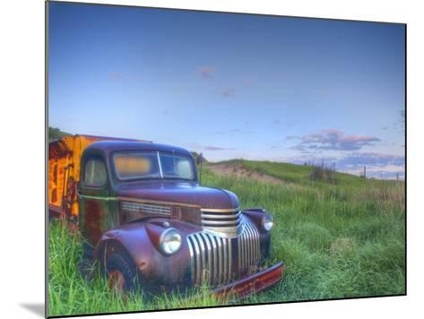 Old Chevy Truck in the Little Missouri National Grasslands, North Dakota, USA-Chuck Haney-Mounted Photographic Print