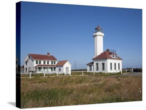 Point Wilson Lighthouse, Port Townsend, Washington, USA-Jamie & Judy Wild-Stretched Canvas Print