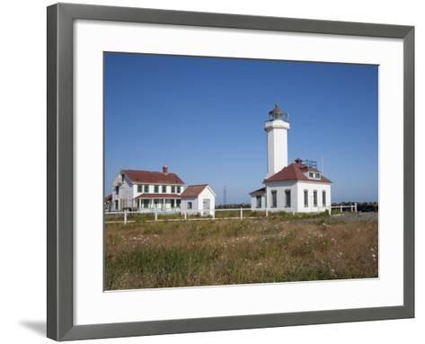 Point Wilson Lighthouse, Port Townsend, Washington, USA-Jamie & Judy Wild-Framed Art Print