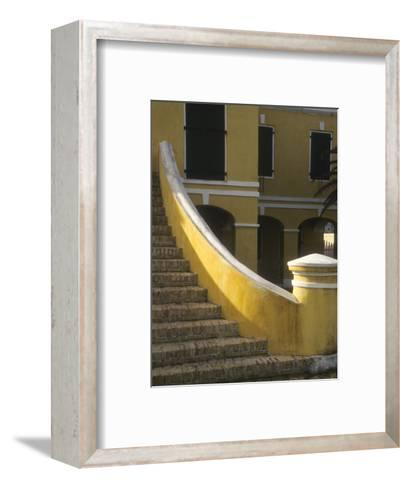 Customs House Exterior Stairway, Christiansted, St. Croix, US Virgin Islands-Alison Jones-Framed Art Print