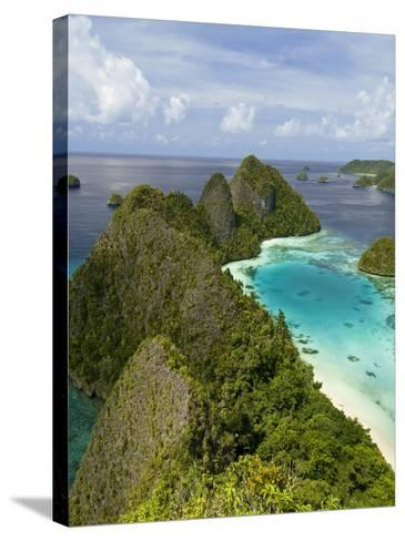 View of Islands Covered With Vegetation, Raja Ampat, New Guinea Island, Indonesia--Stretched Canvas Print