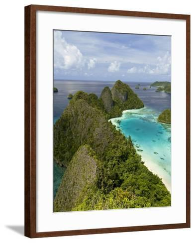 View of Islands Covered With Vegetation, Raja Ampat, New Guinea Island, Indonesia--Framed Art Print