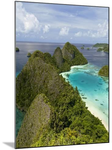 View of Islands Covered With Vegetation, Raja Ampat, New Guinea Island, Indonesia--Mounted Photographic Print