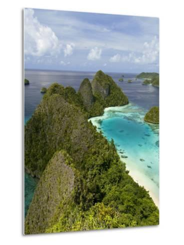 View of Islands Covered With Vegetation, Raja Ampat, New Guinea Island, Indonesia--Metal Print