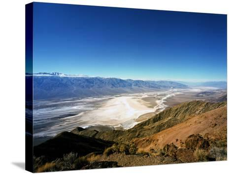 Dante's View in the Black Mountains, Death Valley's Badwater Basin and the Panamint Range, CA-Bernard Friel-Stretched Canvas Print