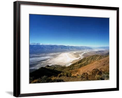 Dante's View in the Black Mountains, Death Valley's Badwater Basin and the Panamint Range, CA-Bernard Friel-Framed Art Print