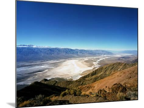 Dante's View in the Black Mountains, Death Valley's Badwater Basin and the Panamint Range, CA-Bernard Friel-Mounted Photographic Print