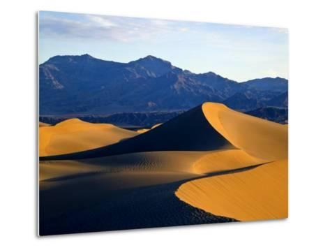 Sand Dunes in Mesquite Flat, Death Valley National Park, California, USA-Bernard Friel-Metal Print