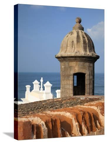 Lookout Tower at Fort San Cristobal, Old San Juan, Puerto Rico, Caribbean-Dennis Flaherty-Stretched Canvas Print