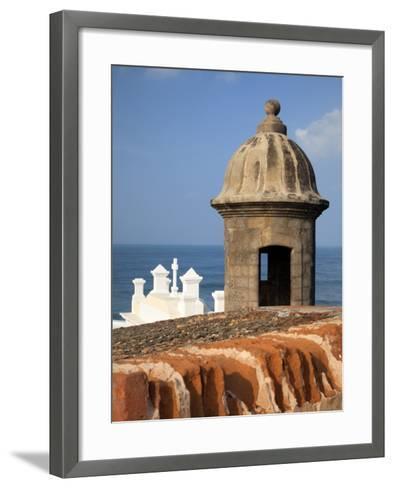 Lookout Tower at Fort San Cristobal, Old San Juan, Puerto Rico, Caribbean-Dennis Flaherty-Framed Art Print