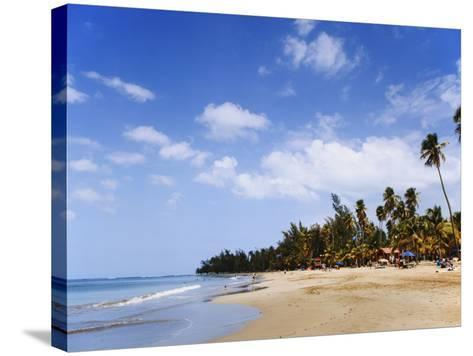 View of Luquillo Beach, Puerto Rico, Caribbean-Dennis Flaherty-Stretched Canvas Print