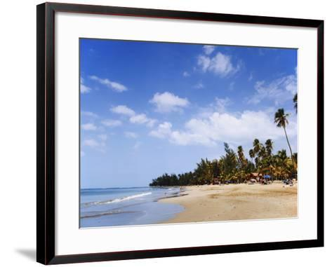 View of Luquillo Beach, Puerto Rico, Caribbean-Dennis Flaherty-Framed Art Print