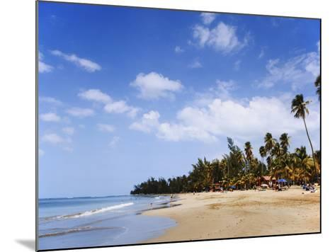 View of Luquillo Beach, Puerto Rico, Caribbean-Dennis Flaherty-Mounted Photographic Print