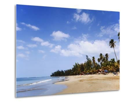 View of Luquillo Beach, Puerto Rico, Caribbean-Dennis Flaherty-Metal Print