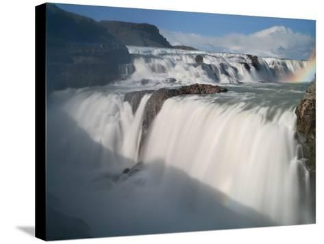The Hvita River Roars Over Gullfoss Waterfall, Iceland-Don Grall-Stretched Canvas Print