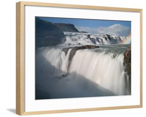 The Hvita River Roars Over Gullfoss Waterfall, Iceland-Don Grall-Framed Art Print