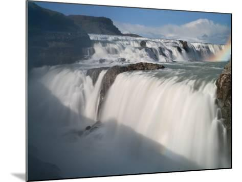 The Hvita River Roars Over Gullfoss Waterfall, Iceland-Don Grall-Mounted Photographic Print