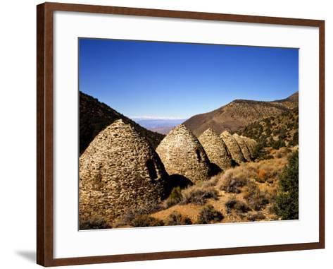 Charcoal Kilns Near Telescope Peak in the Panamint Mountains, Death Valley National Park, CA-Bernard Friel-Framed Art Print