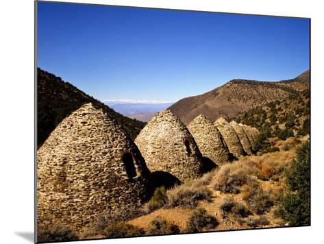 Charcoal Kilns Near Telescope Peak in the Panamint Mountains, Death Valley National Park, CA-Bernard Friel-Mounted Photographic Print