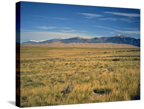 Sand Dunes of Great Sand Dunes National Park and Preserve in the Sangre De Cristo Mountains, CO-Bernard Friel-Stretched Canvas Print