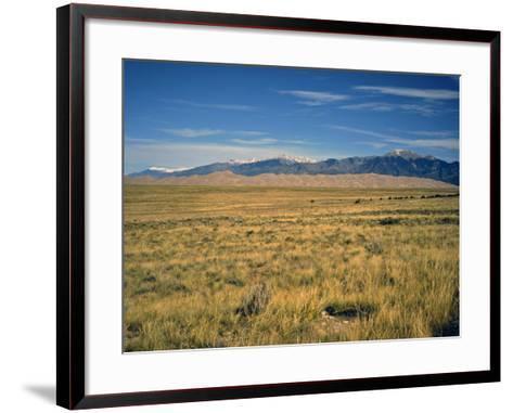 Sand Dunes of Great Sand Dunes National Park and Preserve in the Sangre De Cristo Mountains, CO-Bernard Friel-Framed Art Print