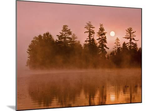 Sunrise on a Lake, Adirondack Park, New York, USA-Jay O'brien-Mounted Photographic Print