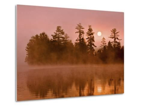 Sunrise on a Lake, Adirondack Park, New York, USA-Jay O'brien-Metal Print