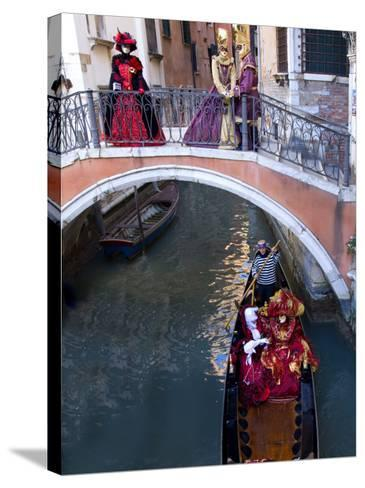 People Dressed in Costumes For the Annual Carnival Festival, Venice, Italy-Jim Zuckerman-Stretched Canvas Print