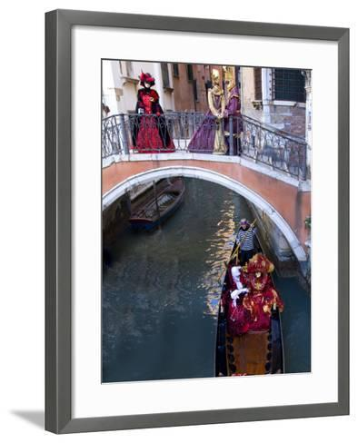 People Dressed in Costumes For the Annual Carnival Festival, Venice, Italy-Jim Zuckerman-Framed Art Print