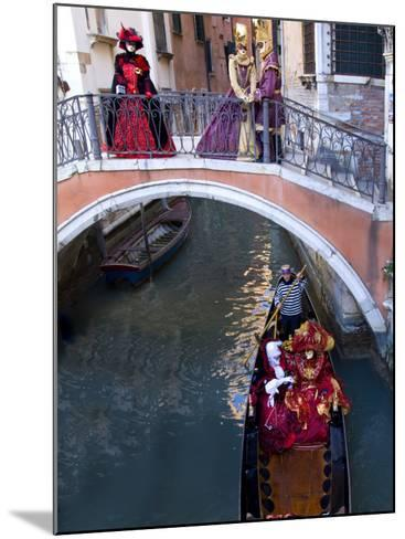People Dressed in Costumes For the Annual Carnival Festival, Venice, Italy-Jim Zuckerman-Mounted Photographic Print