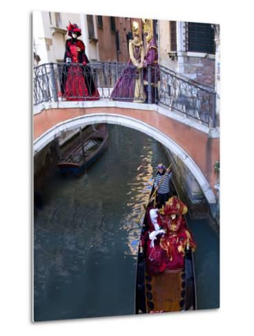 People Dressed in Costumes For the Annual Carnival Festival, Venice, Italy-Jim Zuckerman-Metal Print