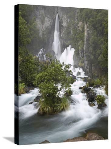 Tarawera Falls, Tarawera River, North Island, New Zealand-David Wall-Stretched Canvas Print