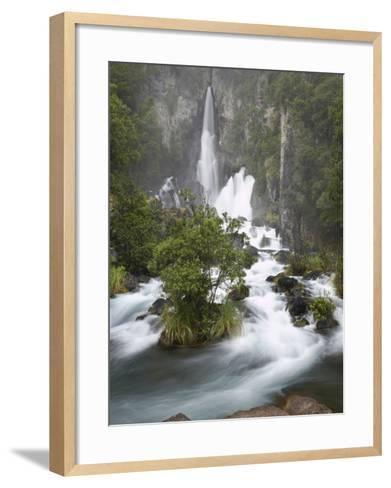 Tarawera Falls, Tarawera River, North Island, New Zealand-David Wall-Framed Art Print