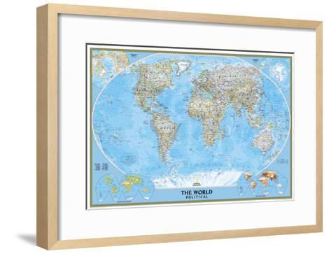World political map art print by national geographic maps the new world political map national geographic maps framed art print gumiabroncs Choice Image