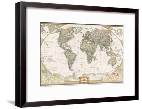 World Political Map, Executive Style Art Print by National ...