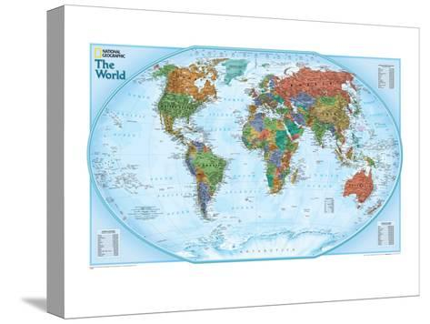 World Explorer Map-National Geographic Maps-Stretched Canvas Print