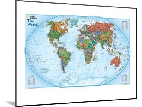 World Explorer Map-National Geographic Maps-Mounted Art Print