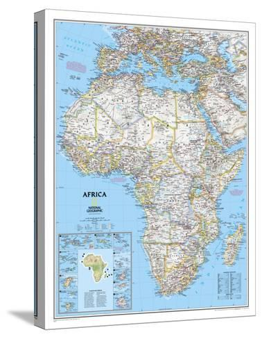 Africa Political Map-National Geographic Maps-Stretched Canvas Print