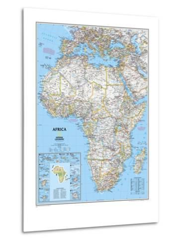 Africa Political Map-National Geographic Maps-Metal Print