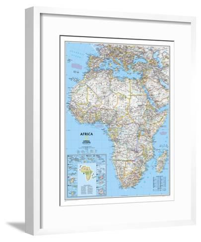 Africa Political Map-National Geographic Maps-Framed Art Print