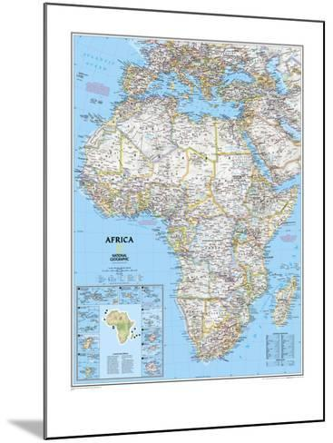 Africa Political Map-National Geographic Maps-Mounted Art Print
