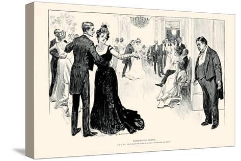 Matrimonial Misfits-Charles Dana Gibson-Stretched Canvas Print