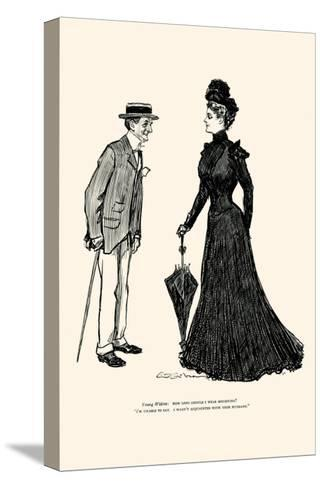 How Long Should I Wear Mourning-Charles Dana Gibson-Stretched Canvas Print