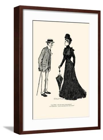 How Long Should I Wear Mourning-Charles Dana Gibson-Framed Art Print